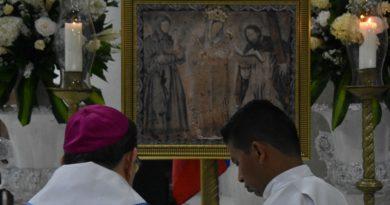 Lienzo réplica de la Virgen de Chiquinquirá llegó a Barranquilla